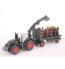 Siku Siku Super 1861 Fendt Tractor met Boomstammen Aanhangwagen (1:87)