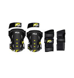 Fila Fila 3-pack skates protection - 3-dlg beschermset zwart/geel XS
