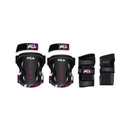 Fila Fila 3-pack skates protection - 3-dlg beschermset roze XS