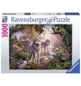 Ravensburger Ravensburger puzzel Wolvenfamilie in de zomer 1000stukjes