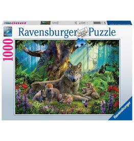Ravensburger Ravensburger puzzel Familie wolf in het bos 1000stukjes