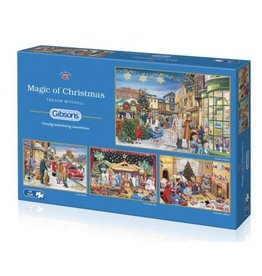 Gibsons Gibsons puzzle Magic of Christmas 4x500 stukjes