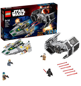 Lego Starwars Lego Starwars Vader'S Tie Advanced Vs A-Wing Fighter  75150