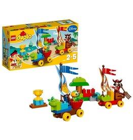 Duplo LEGO DUPLO Jake en de Nooitgedachtland Piraten Strandrace - 10539