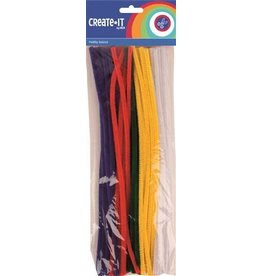 Create-It Haza Create-it   50 stuks Chenille  assorti kleuren