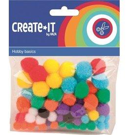 Create-It Haza Create-it 78 stuks Pompoms  ass