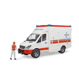 Bruder Bruder 02536 Mercedes Benz Sprinter Ambulance met  Paramedici (1:16) + Licht- en Geluidsmodule