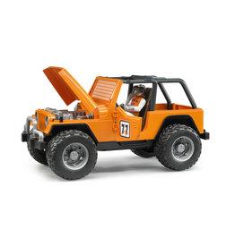 Bruder Bruder 02542 Jeep Cross Country Racer Oranje met Autocoureur  (1:16)