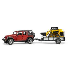 Bruder Bruder 02925 Jeep Wrangler Unlimited Rubicon + Caterpillar Compactlader (1:16)