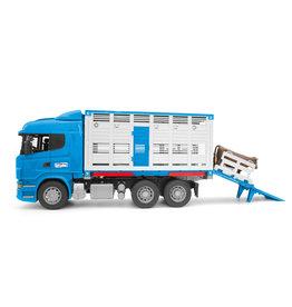 Bruder Bruder 03549 Scania R-serie Veetransportwagen met 1 Koe (1:16)