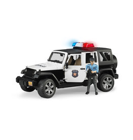 Bruder Bruder 02526 Jeep Wrangler Unlimited Rubicon Politieauto met Agent (1:16) + Licht- en Geluidsmodule