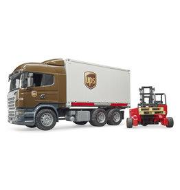 Bruder Bruder 03581 Scania R-serie Vrachtwagen UPS met Heftruck (1:16)