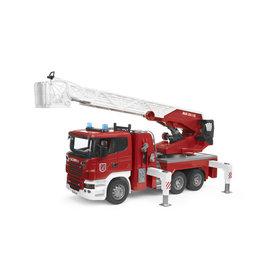 Bruder Bruder 03590 Scania R-serie brandweer Ladderwagen met Waterpomp (1:16) + Licht- en Geluidsmodule