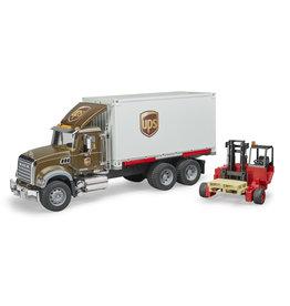Bruder Bruder 02828 MACK Granite UPS Vrachtwagen met Vorkheftruck (1:16)