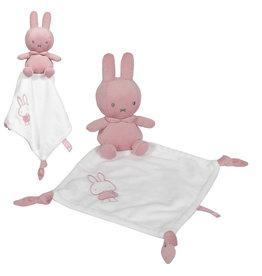Nijntje Nijntje pink baby rib Knuffeldoekje  NIJN614