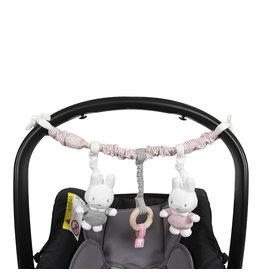 Nijntje Nijntje pink baby rib Wagenspanner  NIJN617