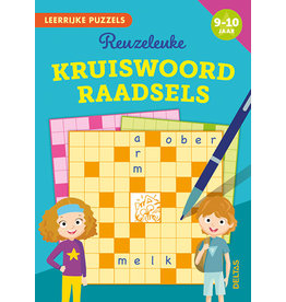 Uitgeverij Deltas Leerrijke puzzels - Reuzeleuke kruiswoordraadsels (9-10 jaar)