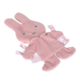 Nijntje Nijntje pink baby rib knisper knuffeldoekje  NIJN615