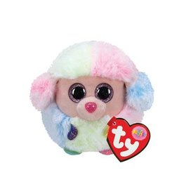 Ty Ty Teeny Puffies Rainbow Poodle 8cm