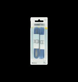 Sorbo Sorbo Veters Wax Blauw 75Cm -  2 Paar