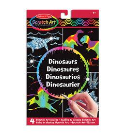 Melissa & Doug Melissa&Doug 15917 Scratch Art-Bladen: Dinosaurussen