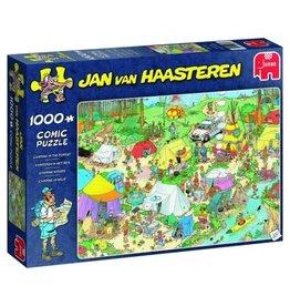 Jumbo Jumbo puzzel Jan van Haasteren: Kamperen In Het Bos  1000 stukjes