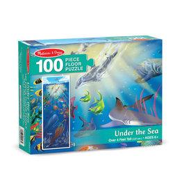 Melissa & Doug Melissa&Doug 10443 Vloerpuzzel Onderwaterwereld (100 stukjes)