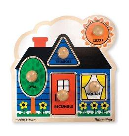 Melissa & Doug Melissa&Doug 12053 Knopjespuzzel – Mijn Eerste Vormen (5 stukjes)