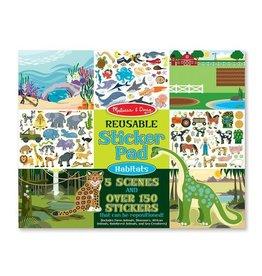 Melissa & Doug Melissa&Doug 14196 Herbruikbaar Stickerboek Leefgebied Dieren