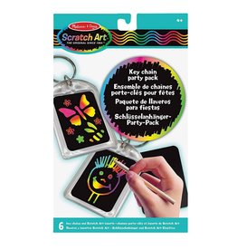 Melissa & Doug Melissa&Doug 15921 Scratch Art Feestset: Sleutelhangers