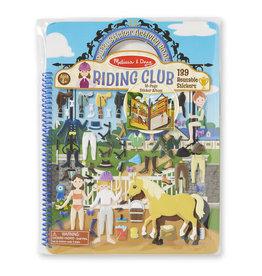 Melissa & Doug Melissa&Doug 19410 Deluxe Stickerboek met Extradikke Stickers Paardrijclub