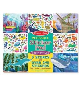 Melissa & Doug Melissa&Doug 40500 Herbruikbaar Stickerboek Onderwaterwereld