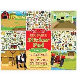 Melissa & Doug Melissa&Doug 40501 Herbruikbaar Stickerboek Boerderij