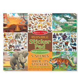 Melissa & Doug Melissa&Doug 40502 Herbruikbaar Stickerboek Jungle & Savanna