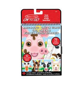 Melissa & Doug Melissa&Doug 40511 Herbruikbare Stickers: Maak een Gezicht - Boerderijdieren