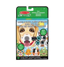 Melissa & Doug Melissa&Doug 40512 Herbruikbare Stickers: Maak een Gezicht - Huisdieren