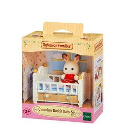 Sylvanian Families Sylvanian families 5017 Set Baby Chocoladekonijn (babybedje)