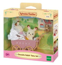 Sylvanian Families Sylvanian families 2206 Set Tweeling Chocoladekonijn (kinderwagen)