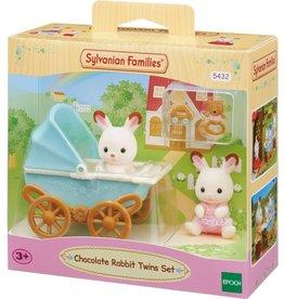 Sylvanian Families Sylvanian Families 5432 Set Tweeling Chocoladekonijn  (Kinderwagen)