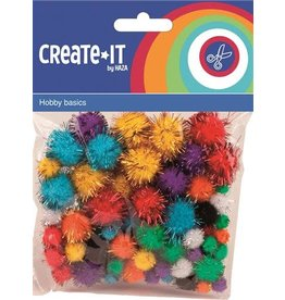 Haza Create-It   78 Glitterpompoms Ass