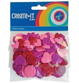 Haza Create-It  132 Foam Hartjes Glitter