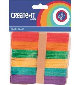 Create-It Haza Create-it 50st Stokjes assorti  115 x 10 mm
