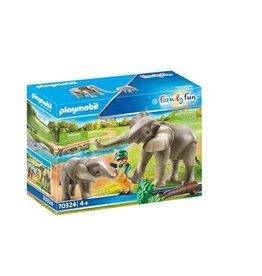 Playmobil PLAYMOBIL 70324 Family Fun Olifantenverblijf