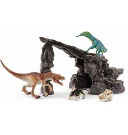 Schleich Schleich Dinosaurs 41461 Dino Set met Grot