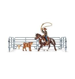 Schleich Schleich Farm World 41418 Lassovangst met Cowboy
