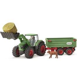 Schleich Schleich Farm World 42379 Schleich Tractor met Aanhangwagen