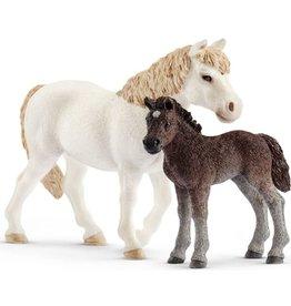 Schleich Schleich Farm World 42423 Pony en Veulen