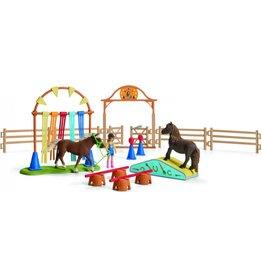 Schleich Schleich Farm World 42481 Pony Behendigheidstraining