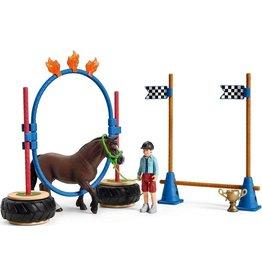 Schleich Schleich Farm World 42482 Pony Behendigheidswedstrijd
