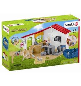 Schleich Schleich Farm World 42502 Dierenartspraktijk met Huisdieren